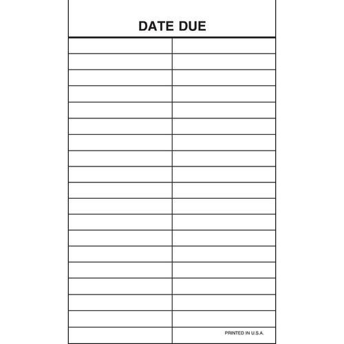 Date Due Slips